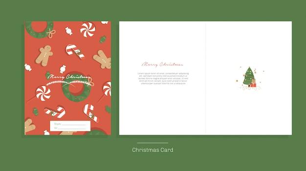 Ilustração vetorial. cartão de feliz natal.
