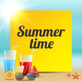 Ilustração vetorial colorida de horário de verão