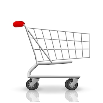 Ilustração vetorial com carrinho de compras isolado