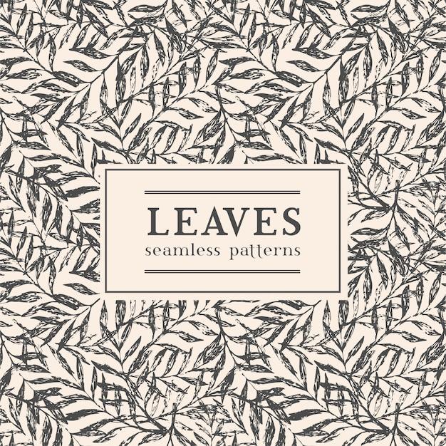 Ilustração vetorial com folhas exóticas e espaço para seu texto