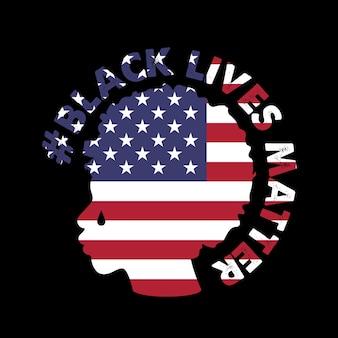 Ilustração vetorial com o texto black lives matter