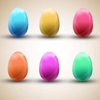 Ilustração vetorial conjunto de ovos de páscoa