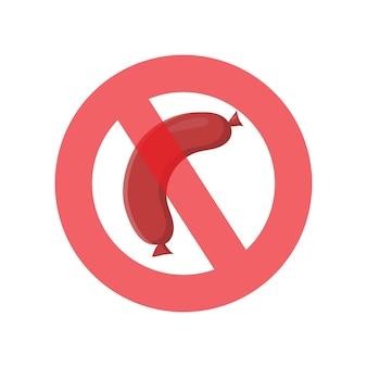 Ilustração vetorial contra carne em estilo simples