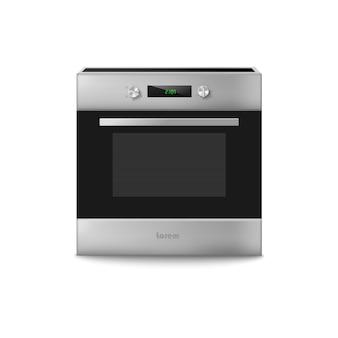 Ilustração vetorial d de equipamento de cozinha doméstico com forno elétrico para cozinhar alimentos