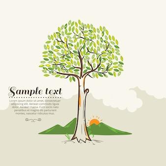Ilustração vetorial da árvore