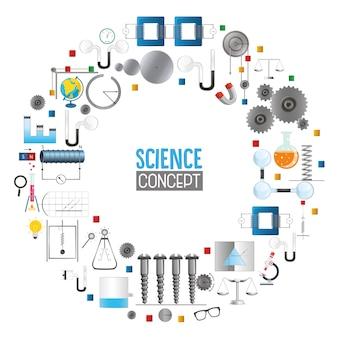 Ilustração vetorial da ciência