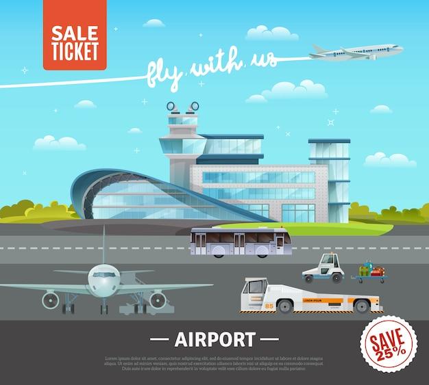 Ilustração vetorial de aeroporto