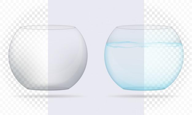 Ilustração vetorial de aquário transparente