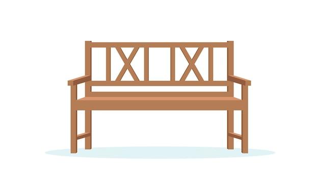 Ilustração vetorial de banco de jardim em estilo simples