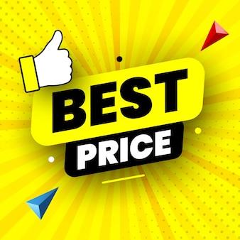 Ilustração vetorial de banner de venda de melhor preço