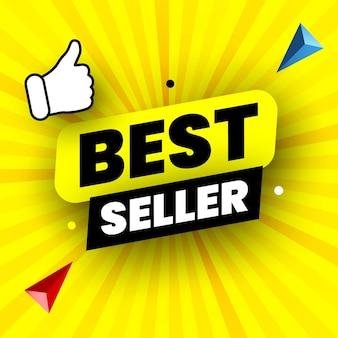 Ilustração vetorial de banner do melhor vendedor