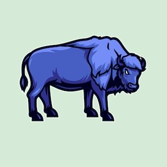 Ilustração vetorial de bisonte americano