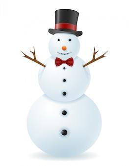 Ilustração vetorial de boneco de neve