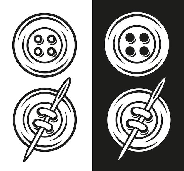 Ilustração vetorial de botão em duas versões