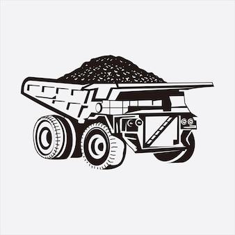 Ilustração vetorial de caminhão de mineração