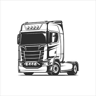 Ilustração vetorial de caminhão