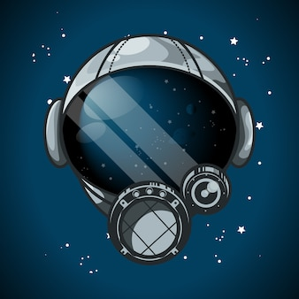 Ilustração vetorial de capacete de astronauta