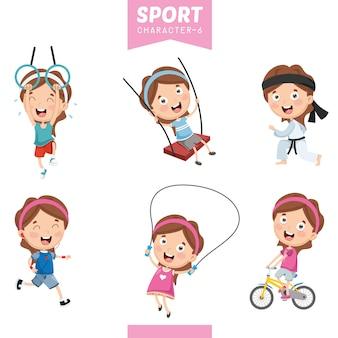Ilustração vetorial de caráter de esporte