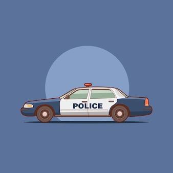 Ilustração vetorial de carro de polícia de los angeles