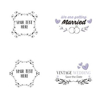 Ilustração vetorial de casamento