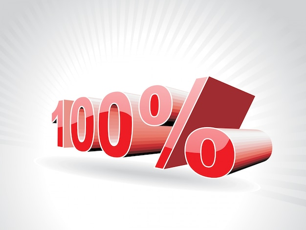 Ilustração vetorial de cem por cento
