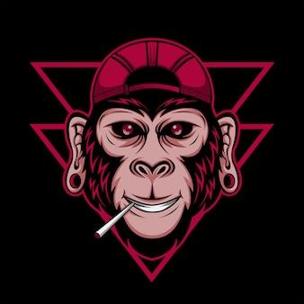 Ilustração vetorial de chimpanzé