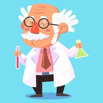 Ilustração vetorial de cientista