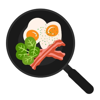 Ilustração vetorial de comida de café da manhã