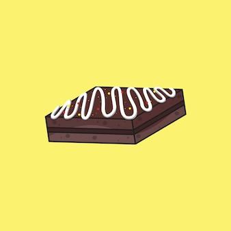 Ilustração vetorial de conceito de vetor isolado de bolo de chocolate