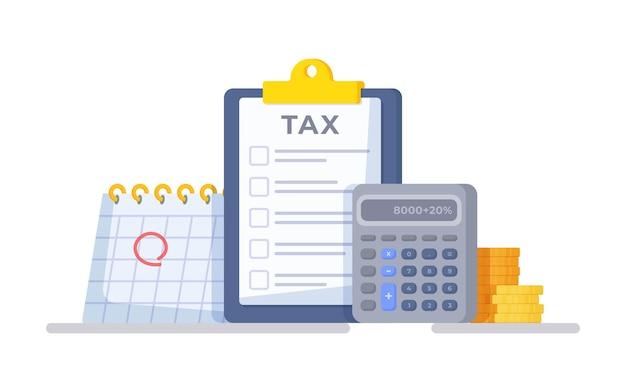 Ilustração vetorial de dispositivos para contagem e pagamento de salários
