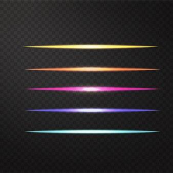 Ilustração vetorial de efeito de luz realista
