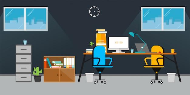 Ilustração vetorial de escritório