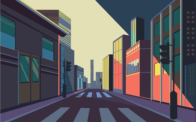 Ilustração vetorial de estoque de rua
