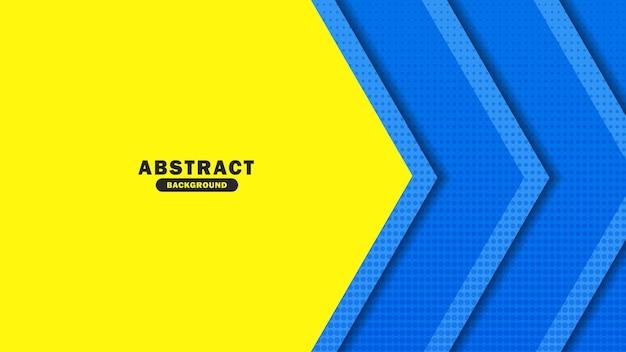 Ilustração vetorial de fundo amarelo e azul