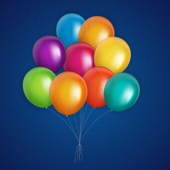 Ilustração vetorial de fundo de balões coloridos eps10