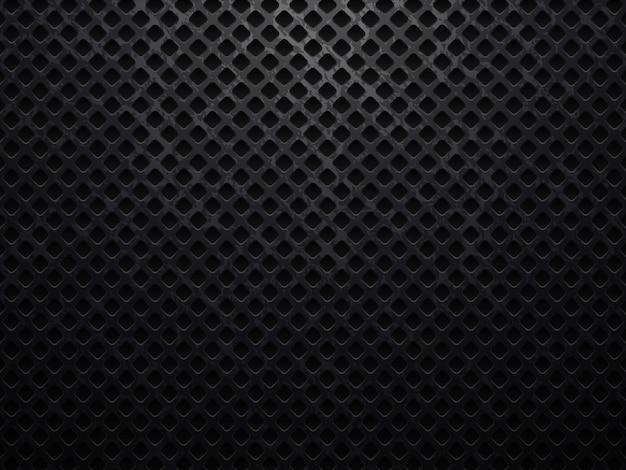 Ilustração vetorial de fundo preto com textura de metal grunge