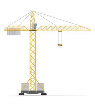 Ilustração vetorial de guindaste de construção