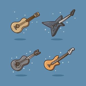 Ilustração vetorial de guitarra