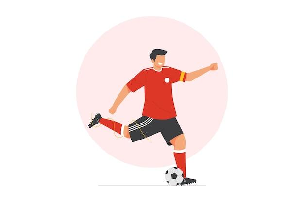 Ilustração vetorial de jogador de futebol para esportes olímpicos