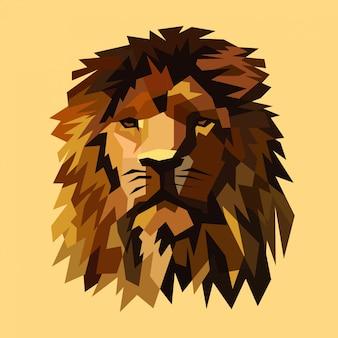 Ilustração vetorial de leão
