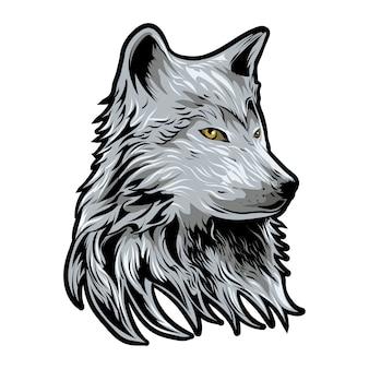 Ilustração vetorial de lobo isolada