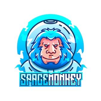 Ilustração vetorial de macaco espacial