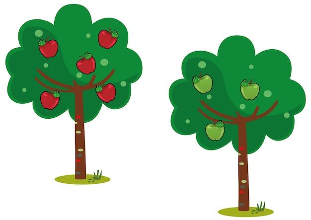 Ilustração vetorial de macieira