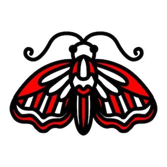 Ilustração vetorial de mariposa em um fundo branco