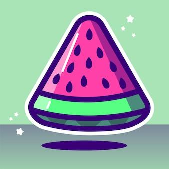 Ilustração vetorial de melancia