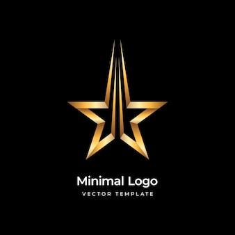 Ilustração vetorial de modelo de logotipo de estrela dourada