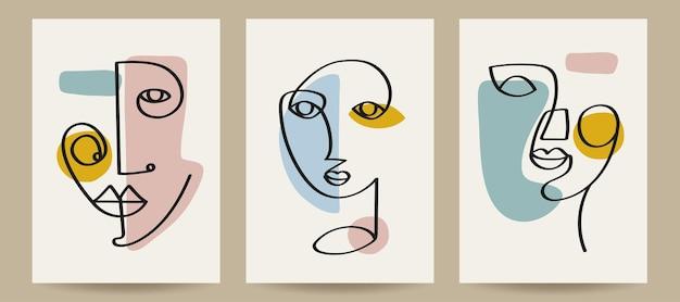 Ilustração vetorial de modelos de capa de arte contemporânea