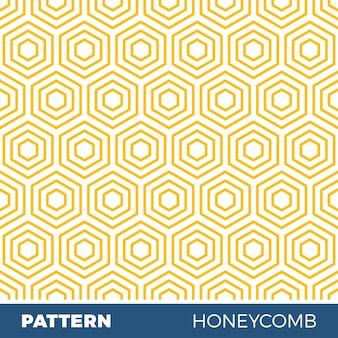 Ilustração vetorial de padrão geométrico sem costura com favos de mel