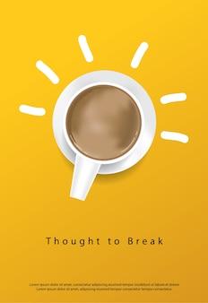 Ilustração vetorial de panfletos de propaganda de café