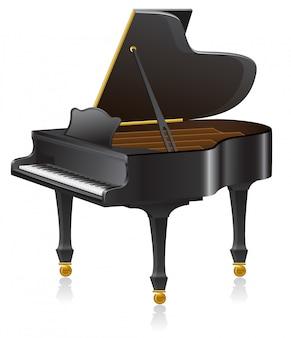 Ilustração vetorial de piano